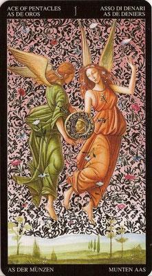 As de Deniers - Tarot Doré de Botticelli