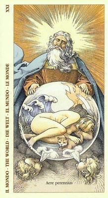 XXI Le Monde - Le tarot Dürer