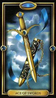 As d'Épées - The Gilded Tarot