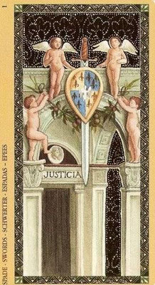Golden Tarot of the Renaissance - As d'Épée