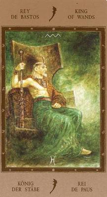 Roi de Bâtons - Labyrinth Tarot