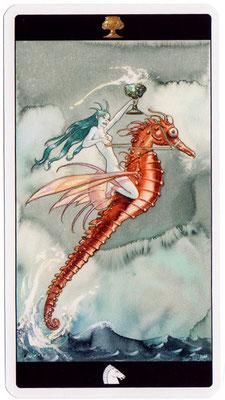 Chevalier de Coupes - Le tarot de l'Enchanteresse des Rêves