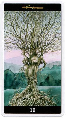 10 de Bâtons - Le tarot de l'Enchanteresse des Rêves