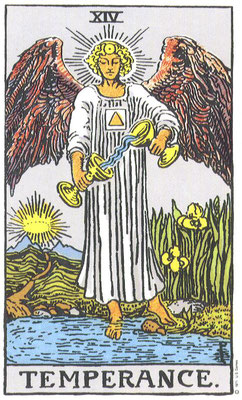 XIV Tempérance - Tarot Rider Waite Smith