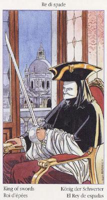 Tarot de Casanova - Érotique - Roi d'Épées