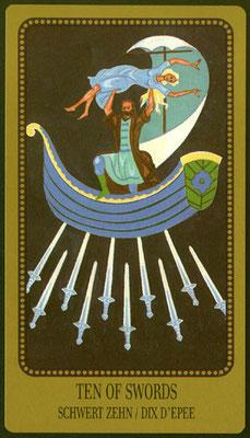 10 d'Épées - Le tarot Egorov