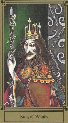 Roi de Bâtons - Le tarot Fantastique
