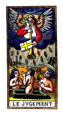 XX Le Jugement - Le Tarot de la Félicité