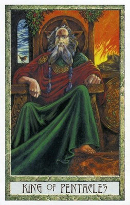 Roi de Pentacles - Le tarot Druid Craft