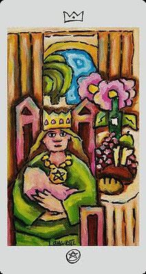 Reine de Deniers - Langustl Tarot