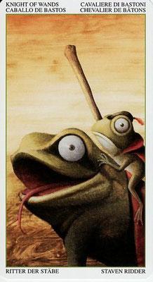Cavalier de Bâtons - Le Tarot de la Forêt Magique