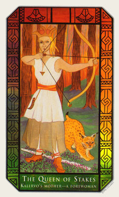 Reine de Bâtons - Tarot Kalevala