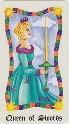 Reine d'Épées - Le Tarot Fenton-Bale
