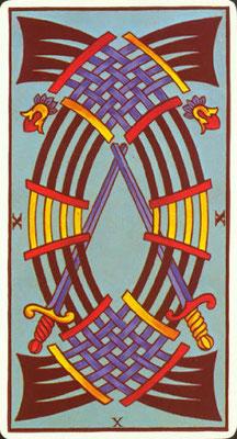 10 d'Épées - Le Tarot de Marseille Fournier