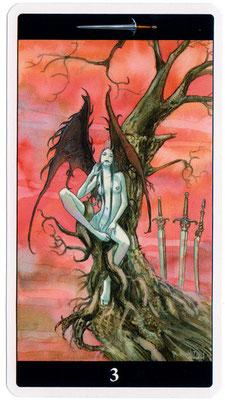 3 d'Épées - Le tarot de l'Enchanteresse des Rêves