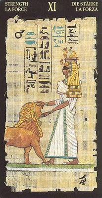 XI La Force - Le tarot Égyptien
