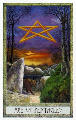 As de Pentacles - Le tarot Druid Craft