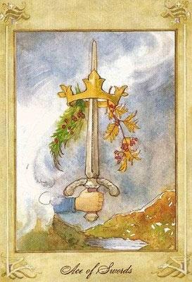 As d'Épées - Llewellyn Tarot