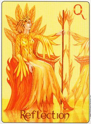 Reine de Bâtons - Gill Tarot