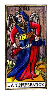 XIV Tempérance - Le Tarot de la Félicité