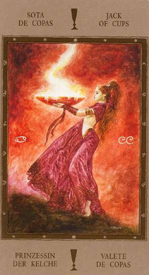 Valet de Coupes - Labyrinth Tarot