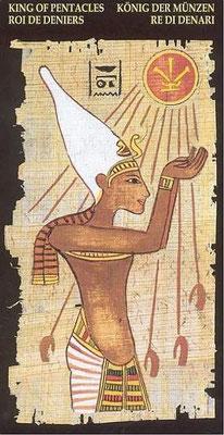 Roi de Deniers - Le tarot Égyptien