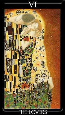 VI L'Amoureux - Tarot Klimt