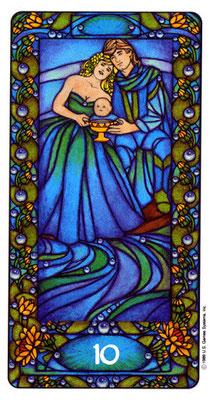 10 de Coupes - Le tarot Art Nouveau de Myers