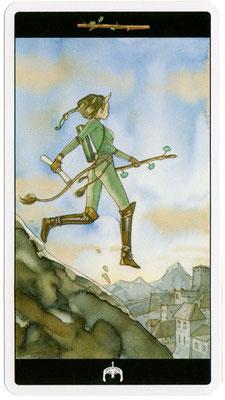 Page de Bâtons - Le tarot de l'Enchanteresse des Rêves