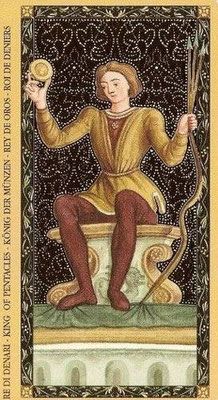 Golden Tarot of the Renaissance - Roi de Deniers