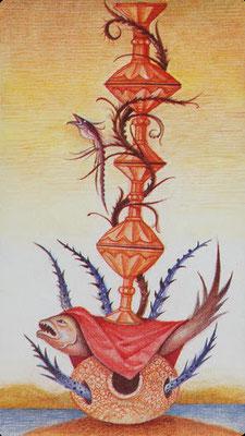 4 de Coupes - Le tarot Bosh