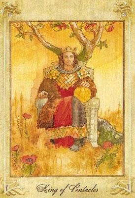 Roi de Deniers - Llewellyn Tarot