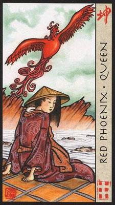 Reine du Phoenix Rouge - Le Tarot Feng Shui