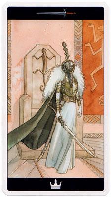 Roi d'Épées - Le tarot de l'Enchanteresse des Rêves