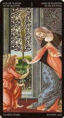 As de Bâtons - Tarot Doré de Botticelli