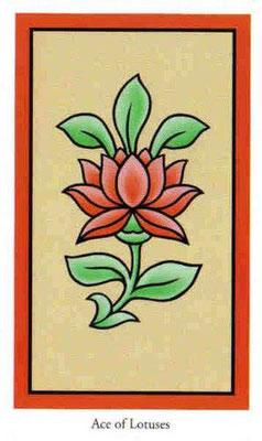 As de Fleurs de lotus - Le tarot de Bouddha