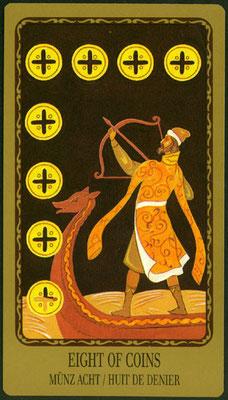 8 de Deniers - Le tarot Egorov