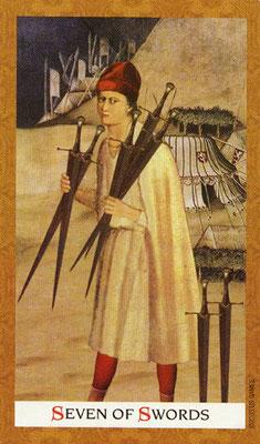 Golden Tarot - 7 d'Épée