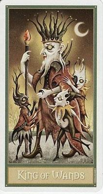 Roi de Bâtons - Le tarot Deviant Moon