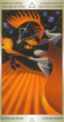 Roi de Bâtons - Liber T Stars Eternal Tarot