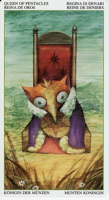Reine de Pentacles - Le Tarot de la Forêt Magique