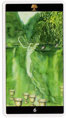 6 de Coupes - Le tarot de l'Enchanteresse des Rêves