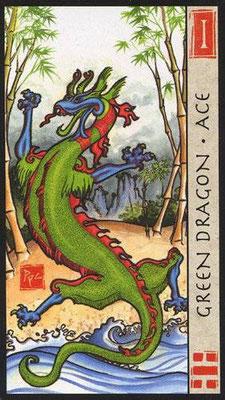As du Dragon Vert - Le Tarot Feng Shui
