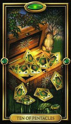 10 de Pentacles - The Gilded Tarot