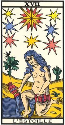 XVII L'Étoile - Tarot de Marseille