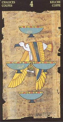 4 de Coupes - Le tarot Égyptien