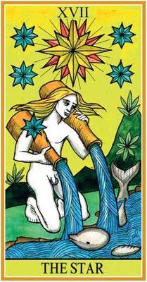 XVII L'Étoile - Le tarot de la Roue de Dame Fortune