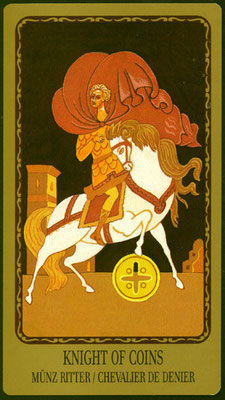 Chevalier de Deniers - Le tarot Egorov
