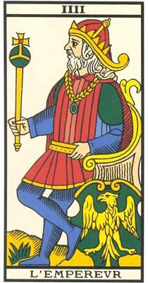 IIII L'Empereur - Tarot de Marseille