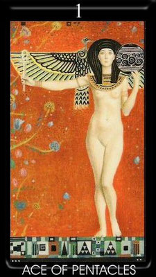 As de Deniers - Golden Tarot of Klimt